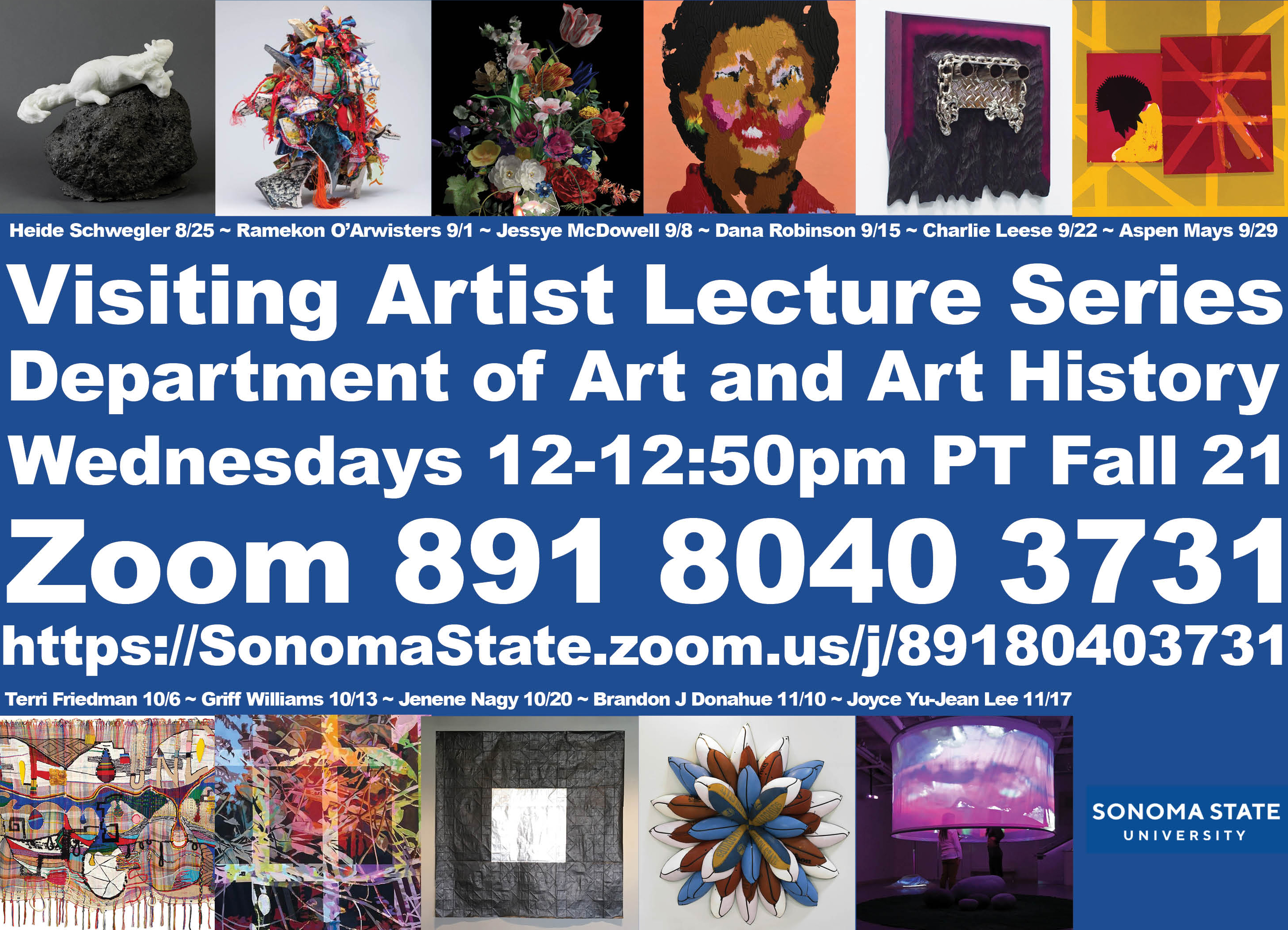 Visiting Artist Lecture Series Fall 21
